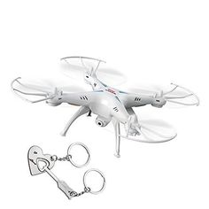 Syma X5SW 4CH 24G 6Axis Gyro Headless Support Mobile Phone Apple IOS Android WiFi Wifi Control FPV HD 03MP Camera 360degree 3D Rolling Mode 2 RTF RC Quadcopter White >>> You can find out more details at the link of the image.Note:It is affiliate link to Amazon. #instafashion