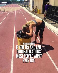 If you try and fail, congratulations. Failing is part of the success process. Track Quotes, Running Quotes, Running Motivation, Fitness Motivation Quotes, Weight Loss Motivation, Half Marathon Motivation, Crossfit Quotes, Positive Quotes, Motivational Quotes
