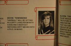 Devin Townsend yearbook photo