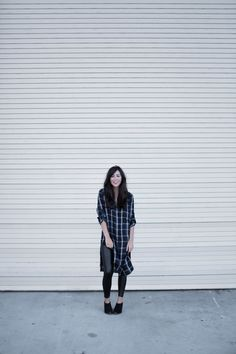 Plaid Tunic + Booties - Art of Style