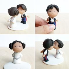 Star Wars Princess Leia Han Solo Cake Toppers by lyrese.deviantart.com on @DeviantArt