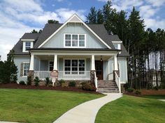 Craftsman Exterior Color Combinations | cute craftsman exterior--love the colors and large front porch