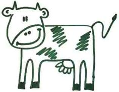 how to draw a cow in 10 seconds