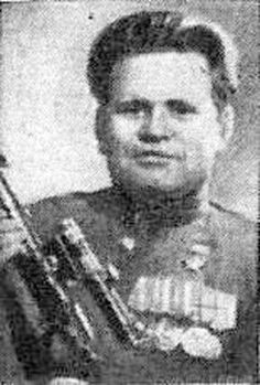 Sniper Vassili Zaitsev with his Mosin Nagant PU sniper rifle - post 1942 WWII