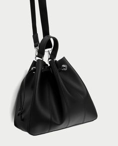 19111b89d0 ZARA - WOMAN - BUCKET BAG WITH TOPSTITCHING Zara United States