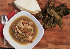Healthier Chicken Green Chile Soup