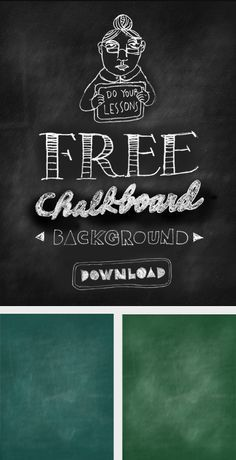 Free downloadable chalkboard backgrounds