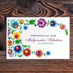 Zaproszenie Ślubne  #decorisus#folk#weseleludowe