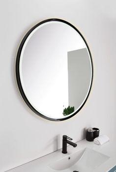Scala Bad Tivoli- Sort ramme cm til speil - Modena Fliser Mirror, Bathroom, Norway, Home Decor, Design, Modern, Full Bath, Bathing, Washroom