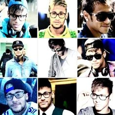 Neymar in glasses Good Soccer Players, Football Players, Love You Babe, My Love, Messi And Neymar, Star Wars, World Cup 2014, Best Player, Fc Barcelona