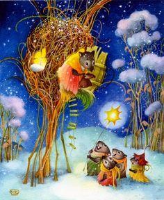 Children's Book Illustrations by Olga Ionajtis Russian artist ~ Blog of an Art Admirer
