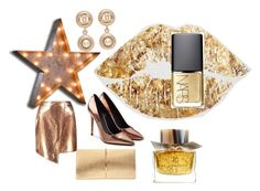 """""""gold i love"""" by hellodielilly on Polyvore featuring Burberry, Vintage Marquee Lights, Alexander Wang, Boohoo, Nina Ricci, Chanel and NARS Cosmetics"""