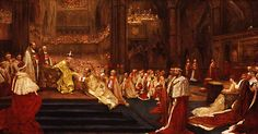 CORONATION HOMAGE TO EDWARD VII as King of The United Kingdom & Emperor of India 9 August 1902. Westminster Abby, London, England,