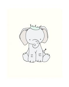 Elephant Nursery Art  Little Elephant Prince by SweetMelodyDesigns, $10.00