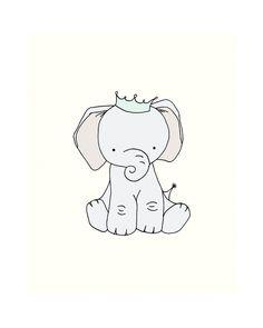 Elephant Nursery Art  Little Elephant Prince by SweetMelodyDesigns, $10.00