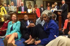 """With sit-in, Democrats tread line between leadership, grandstanding - 6/22/16  But members of Congress are among the most powerful political actors in the country, and they are acting on an issue that is endlessly discussed and debated, not one that requires unusual tactics, like subverting order in the national legislature, to air all sides of the matter. When Republicans respond to not getting their way by undermining legislative norms, the press objects. It should object here."""""""
