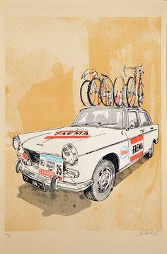 Faema team car, Tour de France 1969