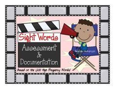 This sight word assessment is based on the list of 1,200 high frequency/high utility words and covers 12 sets of words!