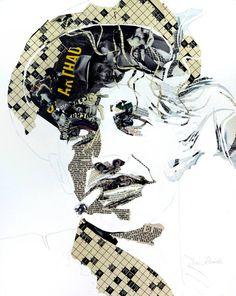 Saatchi Art Artist Ines Kouidis; Collage,  Jean-Paul Belmondo