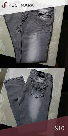 Jeans Thrill full of life gray wash pants thrill Jeans Skinny
