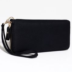Dasein Women's Fashion Zip-Around Wallet w/ Detachable Wristlet Strap - Black Dasein Wallets. Save 37 Off!. $18.99