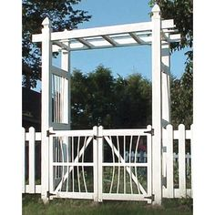 Dura-trel Courtyard 6.5-ft. Vinyl Pergola Arbor With Gate