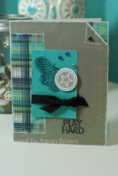 card by Aaron Brown using CTMH Later Sk8r paper