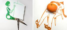 20 Clever Sketches Completed With Everyday Objects By Christoph Niemann