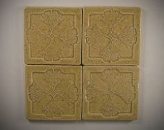 Arts and Crafts Mission Style Tile Coasters  Set of by SeizPottery, $29.00