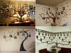 Fab Ideas on Family Tree Wall Art Decor | www.FabArtDIY.com LIKE Us on Facebook ==> https://www.facebook.com/FabArtDIY
