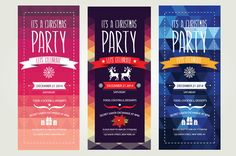 Check out 3 Christmas invitations by Barcelona Design Shop on Creative Market