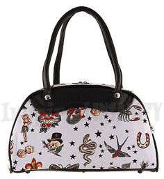 Sailors #delight ~ vintage #tattoo blue 50s rockabilly #bowling bag ~ psychobilly,  View more on the LINK: http://www.zeppy.io/product/gb/2/351508555732/