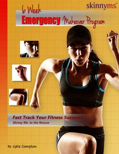 Looking for an effective program to fast track your fitness success? Check out 6 WEEK EMERGENCY MAKEOVER, plus program inlcudes 6 weeks of menus!