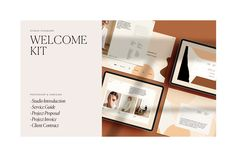 Ad: Auburn Welcome Kit by Studio Standard on Creative Market. DESCRIPTION --- The Welcome Kit is a series of beautifully designed templates to help streamline the introduction process for you and your Presentation Board Design, Presentation Templates, Auburn, Design Typography, Lettering, Branding, Texture Web, Media Kit, Press Kit