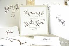 Ivy Ellen samantha wedding invitation classic