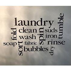 Laundry Room Decor Vinyl Wall Decal by Wild Eyes Signs, Laundry Subway Art, Laundry Sticker, Laundry Collage, Vinyl Decal, HH2034. Add some flair to your laundry room with this laundry room collage. ~~PRODUCT DESCRIPTION~~ * Vinyl wall decal * Colors can be selected from color palatte from photo listing * Any sample photo used is for illustrative purposes. May not be to scale! Measure area to ensure good fit. Custom sizing is available, please convo for quote. ~~CHECKOUT~~ * Please select...