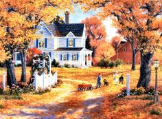 """Autumn Leaves and Laughter"" by Randy Van Beek"