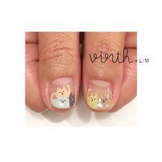 「 モフモフ カラフル ネコさん♡♡ #virth#lim#nail#ショートネイル#ネイル#クワハラ @rika_mi 」