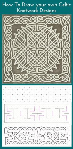 Learn to draw your own Celtic knot designs faith this tutorial from Sherri O Designs. Five easy steps that anyone can master. Free printables and exercises included.