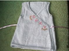 """BLOSSOM"" KNITTED DRESS  3 (4, 5) 50gm balls of Silkwood Fine Blend (60% kid mohair, 30% merino wool, 10% silk), color 218 mauve. This yarn is probably difficult to obtain outside New Zealand, however the Silkwood Yarns email address is silkwood@silkwoodltd.co.nz See below for yarn substitutes.  US 6 / 4mm needles  US 4 / 3.5mm needles  stitch holder  wool needle  pink and brown embroidery thread  embroidery needle  5/8 yd / 1/2m matching ribbon"
