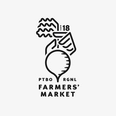 A look beneath the logo for the new Farmers' Market. We constructed an intricate grid layout to build the structure of our hand and beet… 2 Logo, Logo Line, Typography Logo, Logo Branding, Advertising Logo, Marketing Logo, Logo Inspiration, Farmers Market Logo, Building Logo