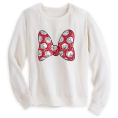 Minnie Mouse Sequin Bow Sweater Just want With blue jeans Boohoo Disney Inspired Outfits, Disney Outfits, Disney Style, Girl Outfits, Cute Outfits, Disney Clothes, Women's Clothes, Modest Outfits, Disney Sweaters