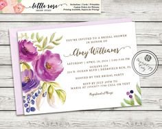 This design features a hand-painted water-color floral with glitter accents in the text. **Colors in the floral artwork cannot be changed as