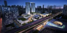 Ningbo Yinzhou Southern CBD Portal - the plan emphasizes the strategic position of the portal area while facilitating its urban center feature