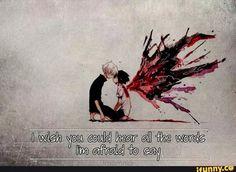 Ich wünschte du könntest all' die Wörter hören, die ich dir aus Angst nicht sagen kann.