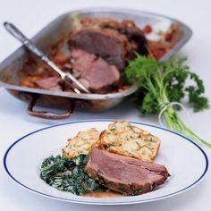 Slavnostní pečeně ideální na velikonoční stůl. Steak, Food, Essen, Steaks, Meals, Yemek, Eten