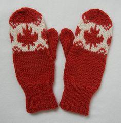 O Canada! Maple Leaf Mittens