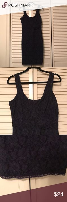 Laundry Navy lace dress Pretty navy lace dress. Never worn. Laundry By Shelli Segal Dresses