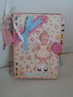 "#Agenda ""Babys"" de @Sonrisas con papel  #personalisable #multiusos #diario #artesania #handmade #decoupage #kraft #regalo"