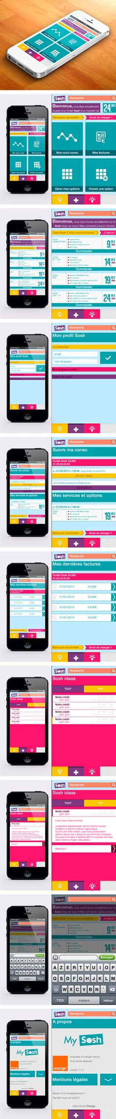 Sosh App by Ianis Soteras, via Behance *** A refresh of the current version of Sosh application for smartphone.